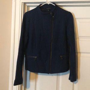Modern Talbots boiled wool zip jacket 6